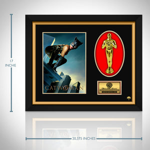 Catwoman Limited Edition Studio Licensed 24k Gold Plated Oscar Custom Frame (A)