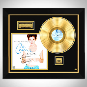Celine Dion Falling into You Limited Signature Edition Studio Licensed Gold LP Custom Frame