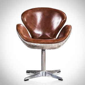 World War II Vintage Aviator Line Furniture Swivel Desk Chair