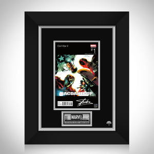 Civil War II Bacdahecup #1 Stan Lee Limited Signature Edition Comic Book Cover Art Custom Frame