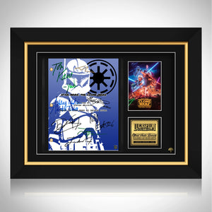 Star Wars The Clone Wars Script Limited Signature Edition Studio Licensed Custom Frame