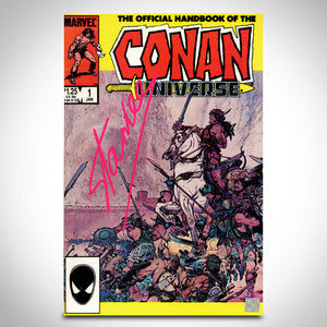 Conan Universe- 'The Official Handbook #1 (1986)' Hand-Signed Comic Book by Stan Lee Custom Frame