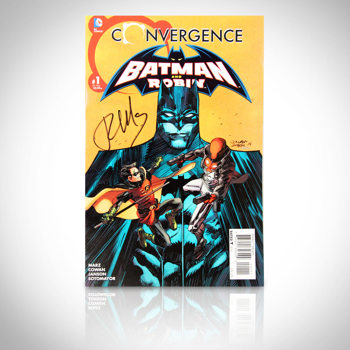 'CONVERGENCE BATMAN & ROBIN #1 - HANDSIGNED BY RON MARZ' Comic Book