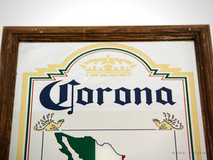 Original Vintage Reverse Painted 'Corona -Mexico' Beer Bar Mirror/Advertisement