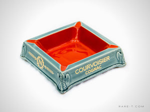 HUGE Ceramic 'COURVOISIER-COGNAC' Lounge/Bar Ashtray | RARE-T