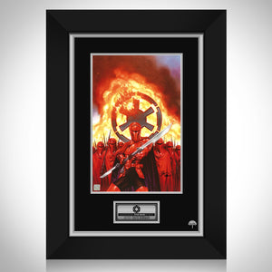 Star Wars 'Crimson Guard' Hand-Signed Artwork Print By Illustrator Dave Dorman Custom Frame
