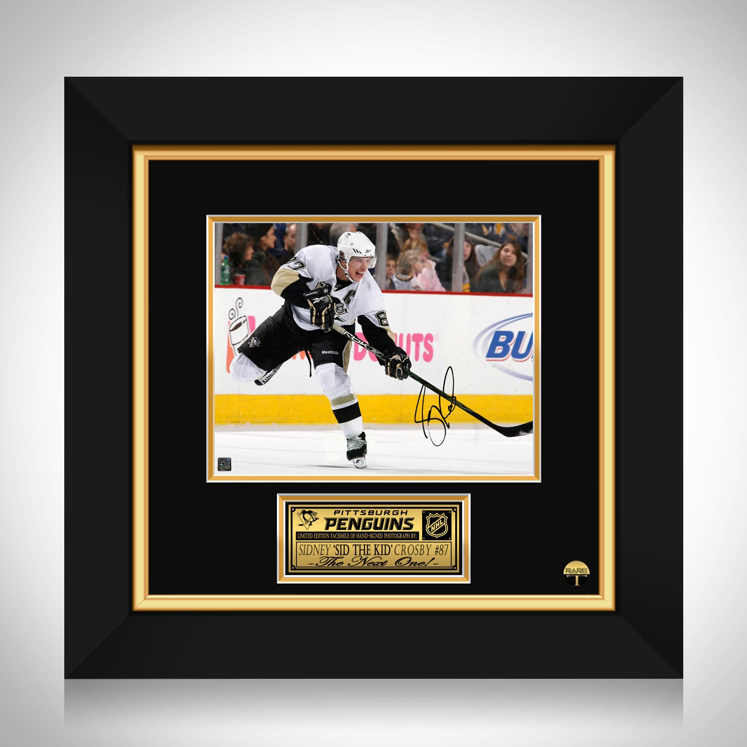 Sidney Crosby Pittsburgh Penguins Photo Limited Signature Edition Stud Rare T