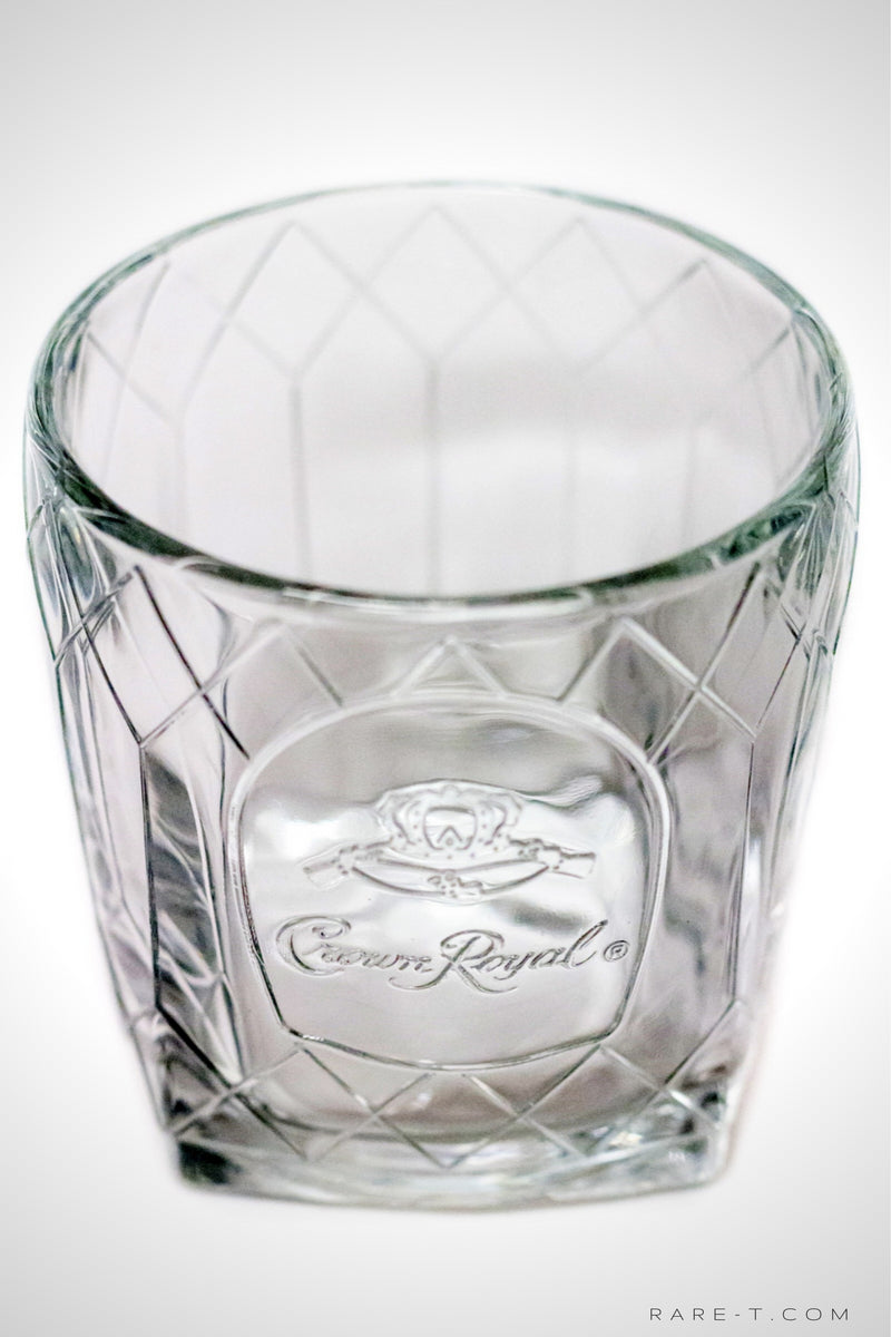 Set of 5 Diamond Edition CROWN ROYAL - CANADIAN WHISKY Rock Glasses | RARE-T