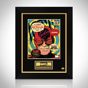 Stan Lee- 'Daredevil' Hand-Signed Caricature Art Print by Stan Lee Custom Frame