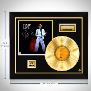 David Bowie Live Gold LP Limited Signature Edition Studio Licensed Custom Frame