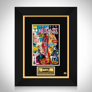 The New Mutants #98 - Stan Lee Limited Signature Edition Comic Book Cover Art Custom Frame