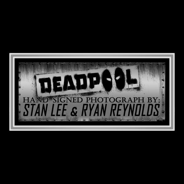 Deadpool Sniffing Guns Hand-Signed Photo By Ryan Reynolds