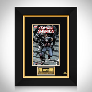 Death Of Captain America #1 Stan Lee Limited Signature Edition Comic Book Cover Art Custom Frame