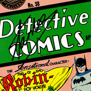 Batman 'The First Appearance of Robin' Detective Comics #38 Hand-Signed By Stan Lee Custom Frame