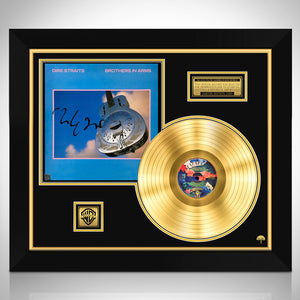 Dire Straits Brothers in Arms Limited Signature Edition Studio Licensed Gold LP Custom Frame