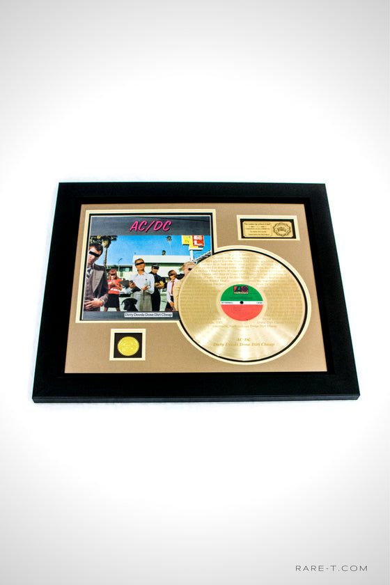 RARE-T Exclusive | 'AC/DC - DIRTY DEEDS DONE DIRT CHEAP' GOLD LP