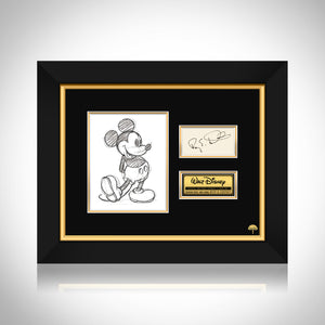 Walt Disney- 'Roy E. Disney' Jsa Certified Hand-Signed Index Card By Roy E. Disney Custom Frame