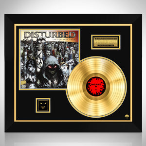 Disturbed Ten Thousand Fists Limited Signature Edition Studio Licensed Gold LP Custom Frame