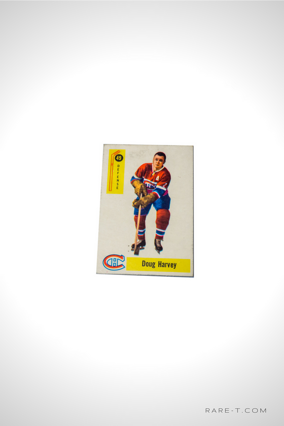 1958 Hockey Card 'PARKHURST - DOUG HARVEY'