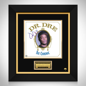 Dr Dre The Chronic LP Cover Limited Signature Edition Studio Licensed Custom Frame