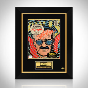 Stan  Lee- 'Doctor Strange' Hand-Signed Caricature by Stan Lee Custom Frame