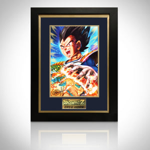 Dragon Ball Z Original Artwork Print Hand Signed By Greg Horn Rare-T Exclusive Custom Frame