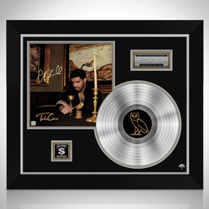 Drake Take Care Platinum LP Limited Signature Edition Studio Licensed Custom Frame
