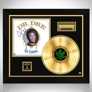 Dr Dre The Chronic Limited Signature Edition Studio Licensed Gold LP Custom Frame