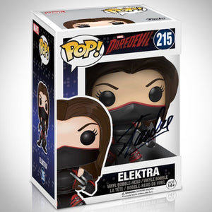 Daredevil Elektra Pop Handsigned By Stan Lee
