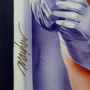 Emma Frost- Hand-Signed Artwork Print By Artist Mike Mayhew Custom Frame