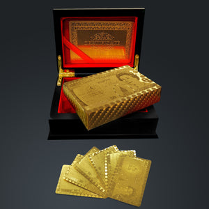 24K Gold Plated Playing Cards Gold Pounds $50 Pattern