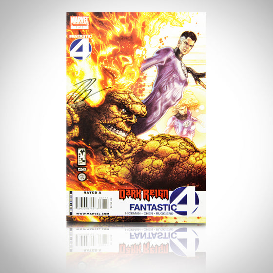 'DARK REIGN FANTASTIC 4 #1 - HANDSIGNED BY JONATHAN HICKMAN' Comic Book