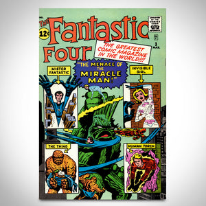 Fantastic Four 'Official Marvel Index #1 Dec (1985)' Hand-Signed Comic Book by Stan Lee Custom Frame