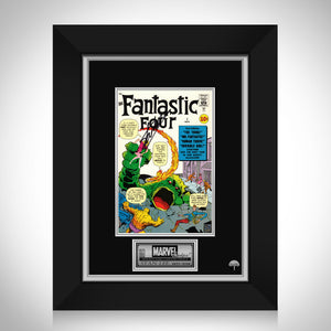 Fantastic Four #1 - Stan Lee Limited Signature Edition Licensed Comic Book Cover Art Custom Frame