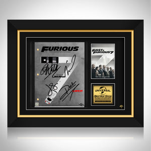 The Fast and The Furious- Limited Signature Edition Studio Licensed Script Custom Frame