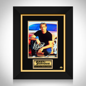 Paul Walker The Fast and the Furious Photo Limited Signature Edition Studio Licensed Custom Frame