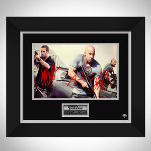 The Fast and the Furious Limited Signature Edition Studio Licensed Photo Custom Frame