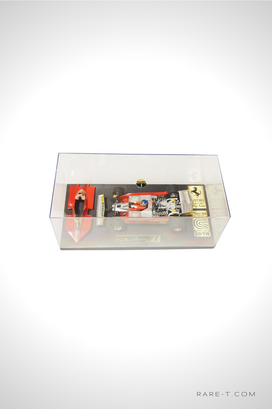 Exclusive Elite Edition Vintage Handmade '1978 FERRARI-GILLES VILLNEUVE' Car Display Set