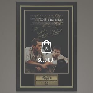 The Fighter- Theatrical Release Poster Hand-Signed by 7 Cast Members Custom Frame.