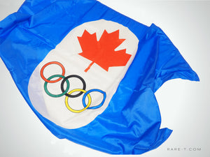 Vintage 1976 'OFFICIAL FLAG FROM THE MONTREAL OLYMPICS'