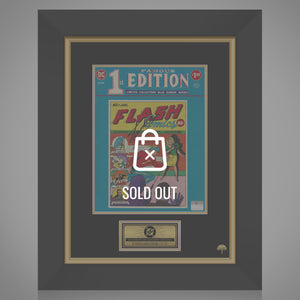 The Flash Famous 1St Edition #F-8 Limited Treasury Sized Hand-Signed Comic By Stan Lee Custom Frame