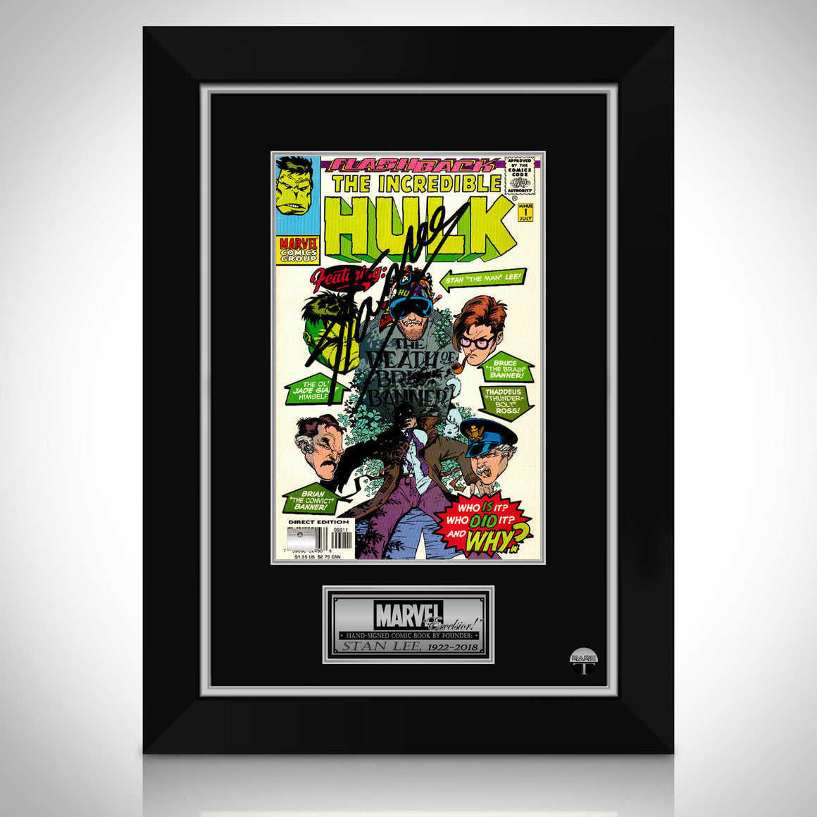 The Incredible Hulk- Flashback 'The Death of Brian Banner' Hand-Signed Comic by Stan Lee
