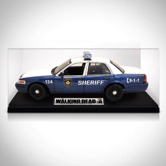 Exclusive Elite Edition 'WALKING DEAD - 2001 FORD CROWN VICTORIA' Die-Cast Car Display Set