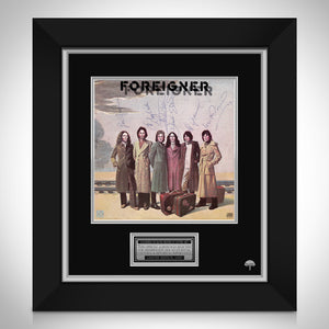Foreigner - Self Titled  Limited Signature Edition Studio Licensed LP Cover Custom Frame