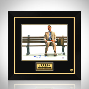 Forrest Gump- Psa/Dna Certified Hand-Signed Photo By Tom Hanks Custom Frame