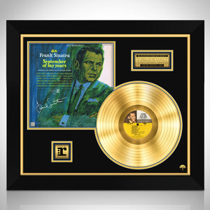 Frank Sinatra September of My Years Limited Signature Edition Studio Licensed Gold LP Custom Frame