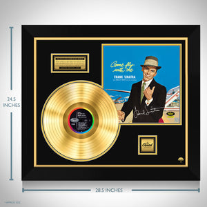 Frank Sinatra Come Fly With Me Gold LP Limited Signature Edition Studio Licensed Custom Frame
