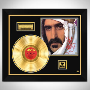 Frank Zappa Sheik Yerbouti Limited Signature Edition Studio Licensed Gold LP Custom Frame