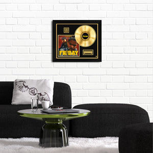 Friday 'Soundtrack' Limited Collectors' Edition Studio Licensed Gold LP Custom Frame