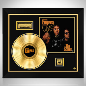 The Fugees The Score Gold LP Limited Signature Edition Studio Licensed Custom Frame